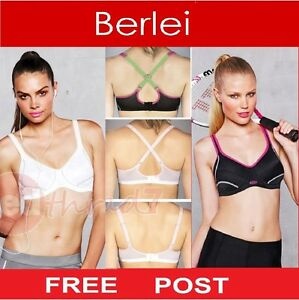 Berlei-Electrify-Bra-Underwire-Womens-Sports-Support-Gym-Black-Fitness-Free-Post
