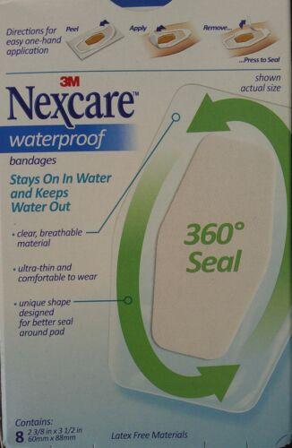 """3M NEXCARE WATERPROOF BANDAGES Knees /& Elbows 2 3//8/"""" x 3 1//2/"""" Latex Free 8 Ct"""