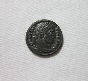 CONSTANTINE I, AE 3. SISCIA MINT, 326-327 AD. CAMP-GATE REVERSE.
