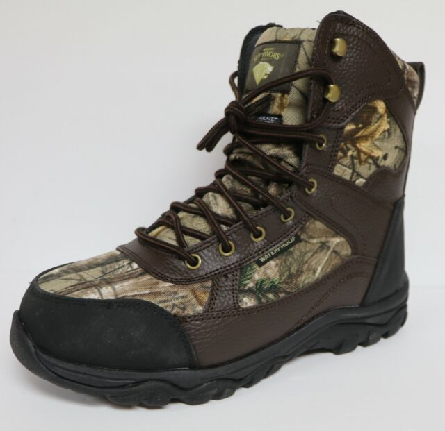 Mens Herman Survivors Realtree Waterproof Hunting Boots Size 8.5 Wide Leather