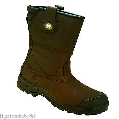 Friendly Rock Fall Texas Ii Brown S3 Hro Composite Toe Cap Safety Rigger Boots Work Boots Personal Protective Equipment (ppe)