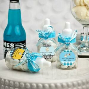 200 - Personalized Blue Baby Boy Bottle Shower Favor - Free US Shipping