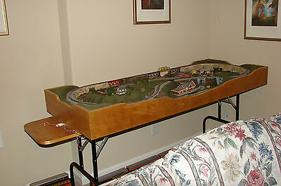 Portable n gage layouts collection on ebay - N scale train layouts small spaces paint ...