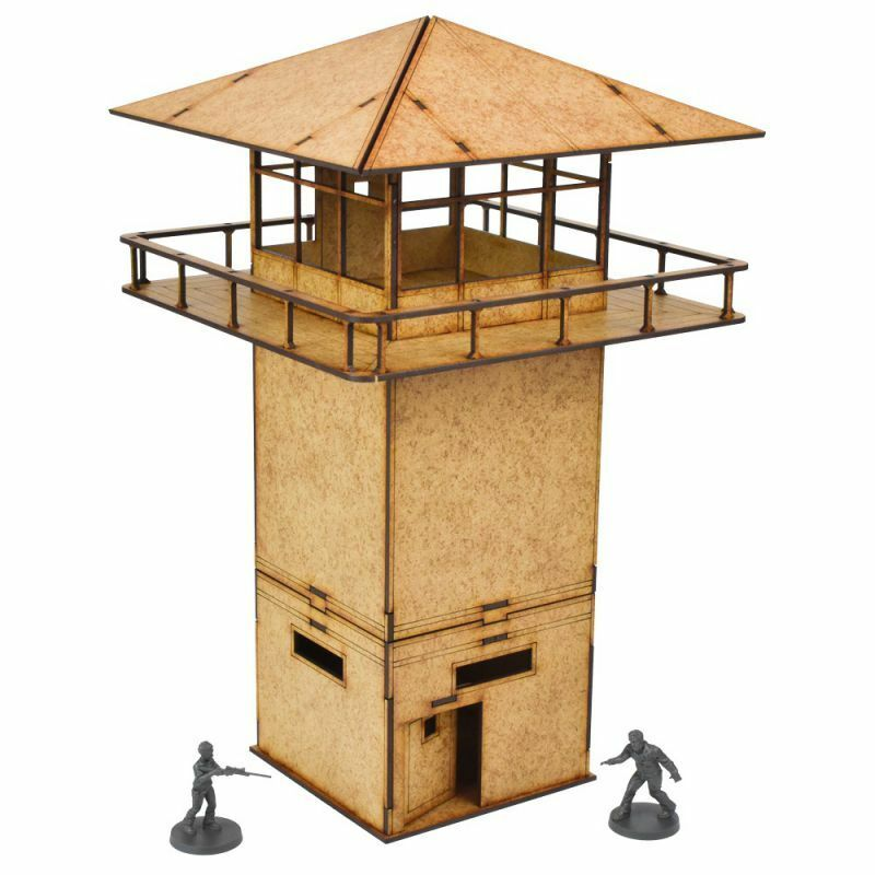 The Walking Dead Prison Tower Scenery Set All Out War Mantic Games Watchtower