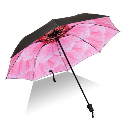 Anti UV Sun Double Layer Upside Down Folding Handle Reverse Windproof Umbrella