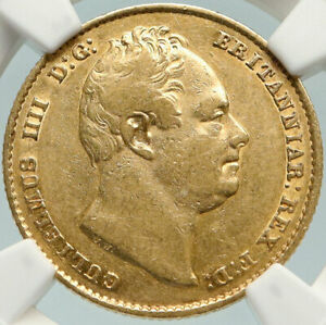 1836-GREAT-BRITAIN-UK-King-WILLIAM-IV-Antique-GOLD-SOVEREIGN-Coin-NGC-i84784