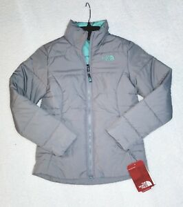 c25b452f7 Details about Brand NEW!! Girls 100% Authentic THE NORTH FACE Harway Jacket  METALLIC SILVER M