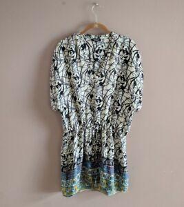 ac4c454d8ab Tolani Women's M Silk Elephant Print Tunic Dress Boho Multicolor ...