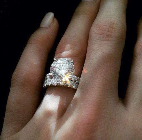 Certified 5.20Ct Round Cut Diamond 14K White gold Engagement Wedding Ring Sets