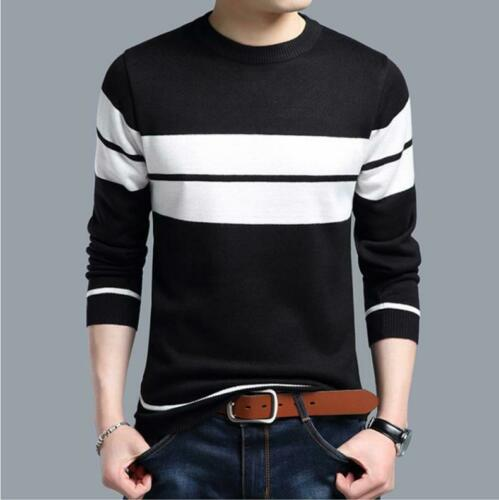 Mens Sweater Thick Warm Cotton Liner O-Neck Christmas Sweater Winter Pullover