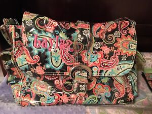 Image Is Loading Monogrammed 034 Layla Kalencom Paisley Diaper Bag