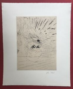 Volker Tannert, proprie domestica fitta, acquaforte, 1992, firmato a mano