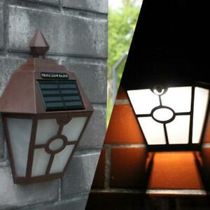 Solar-Powered-LED-Wall-Lights-Outdoor-Garden-Fence-Pat-Lamp-S7G2-Waterproof-E1O0