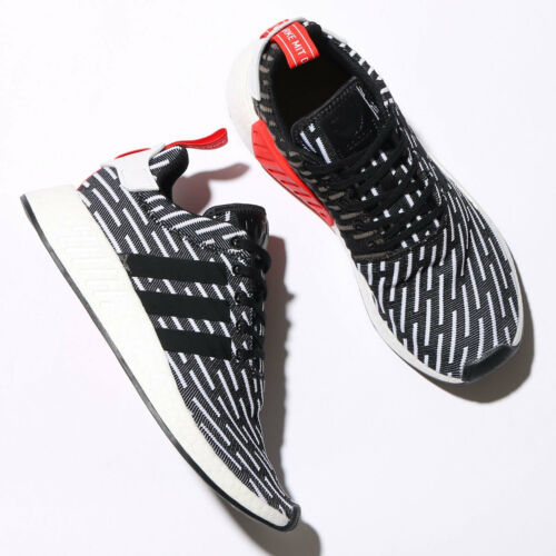 ADIDAS NMD R2 PK Chaussures Noir & Blanc BB2951 US Homme Taille 4-11 Kanye