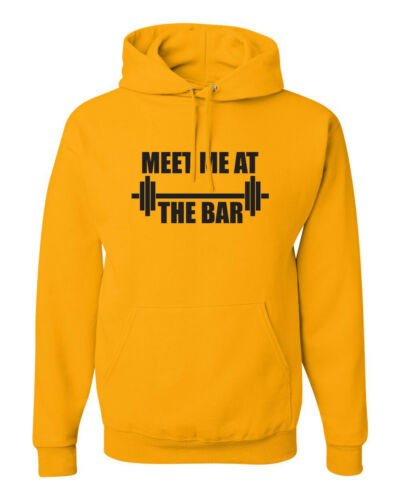 Meet Me At The Bar Funny Workout Gym Lover Gift Fitness Pullover LOL Hoodies