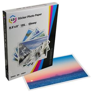 LD-Products-Glossy-Inkjet-Photo-Sticker-Paper-8-5X11-100-Sheets-Total