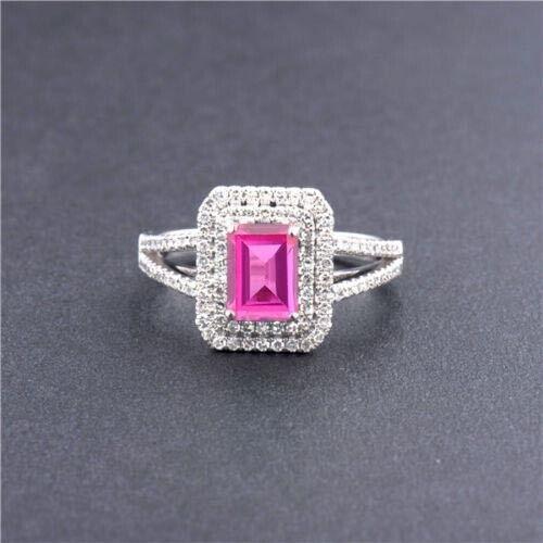 2.20 Carat 14KT White gold Natural Pink Tourmaline EGL Certified Diamond Ring
