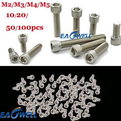 M6x8mm 316 Stainless Steel Pan Head Hex Socket Cap Screws 8pcs