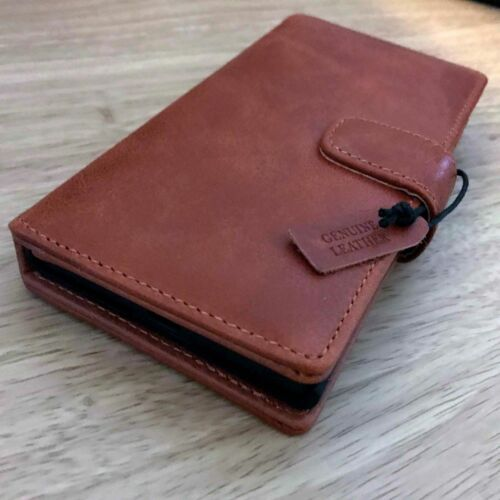 Samsung Galaxy S20 PLUS Real Leather Pelle Wallet Folio Book Case Tan MMK0