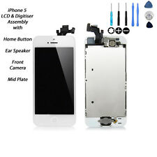 *NEW* LCD & Digitizer Touch Screen Fully Assembled with Parts FOR WHITE iPhone 5