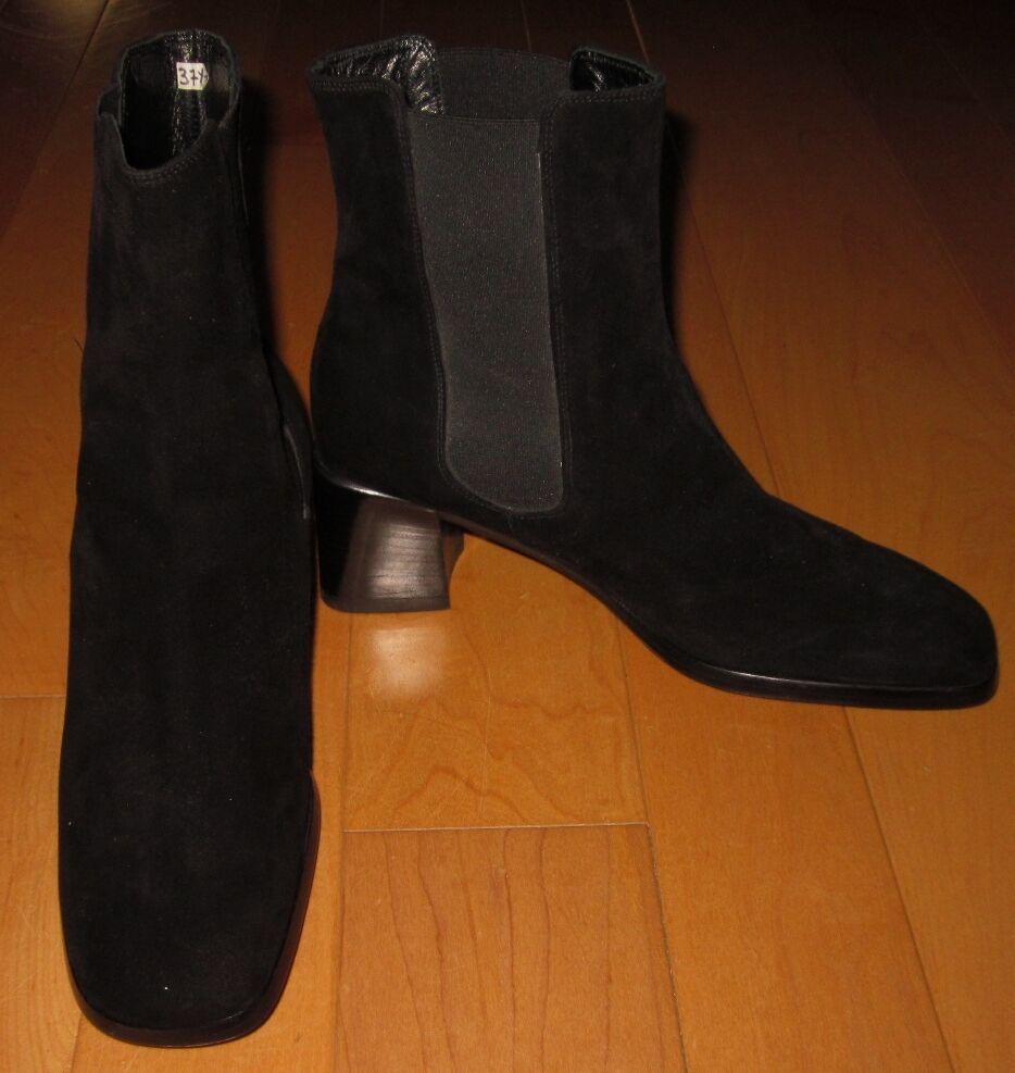 Diseñador Martini Osvaldo negro de moda de gamuza Botas nos 37.5 7.5 nos Botas Hecho En Italia EUC 4d8819