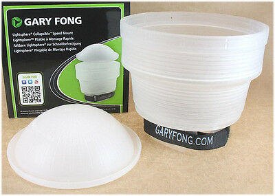 Gary Fong Lightsphere Collapsible Speed Mount Flash Diffuser - White - LSC-SM