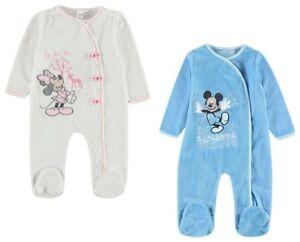 8b9862b774 Das Bild wird geladen DISNEY-Minnie-o-Mickey-Maus-Baby-Maedchen-Jungen-