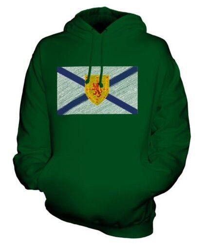 Nova Scotia State Scribble Flag Unisex Kapuzenpulli Top Geschenk Fußball