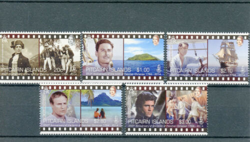 Pitcairn Islands 2014 MNH Fletcher Christian 250th Birth Anniv 5v Set HMS Bounty
