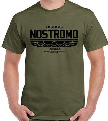 Distressed Nostromo 180286 Mens T-Shirt Alien Film Movie USCSS Weyland-Yutani
