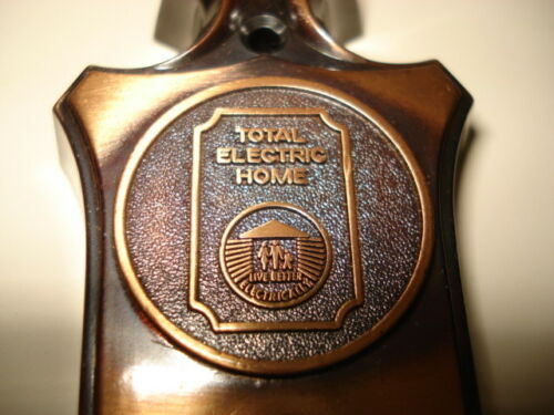 New Vintage 1960/'s Lighted Pushbutton Total Electric Home Door Bell