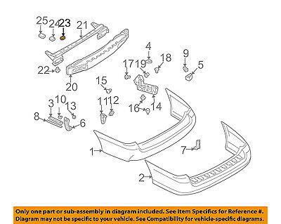 SUBARU OEM 05-09 Legacy Rear Bumper-Impact Reinforcement Bar Rebar 57711AG04A