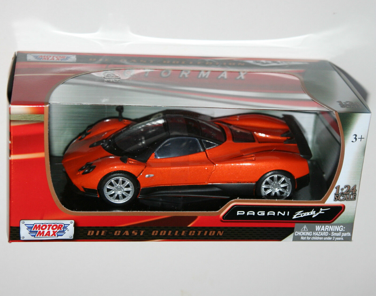Motor Max - PAGANI ZONDA F (orange) - Model Scale 1 24