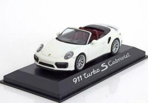 Porsche 911 991 Ii Turbo S Cabriolet 2016 Blanc Herpa Wap0201340g 1/43 Weiss