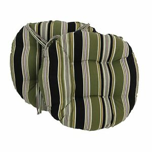 Miraculous Details About 16 Inch Outdoor Spun Polyester Tufted Chair Cushion Set Of 2 Eastbay Onyx Caraccident5 Cool Chair Designs And Ideas Caraccident5Info
