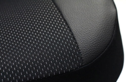 "ISUZU D-MAX Mk2 2012 ONWARDS ECO LEATHER /& FABRIC /""ROYAL/"" TAILORED SEAT COVERS"