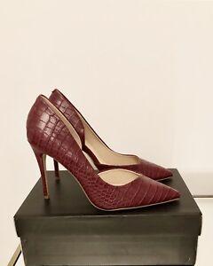 Kurt-Geiger-Red-Croc-Stiletto-Heels-Size-5-EU-38-Court-Shoes-RRP-99-Brand-New