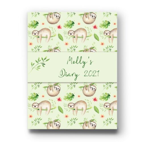 TO DO /& DOODLE MULTI SLOTH CODE 1090 PERSONALISED 2021 YEAR DIARY WEEK TO VIEW