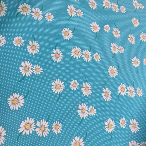100/% Cotton Fabric Tiny Spots n Dots /& Floating Daisies 114cm Wide Per Metre