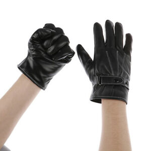 Leather-Gloves-Full-Finger-Mens-Motorcycle-Driving-Winter-Warm-Touch-ScreeNWha