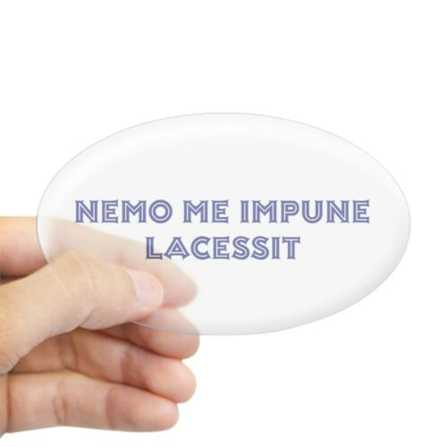 27906752 Oval CafePress Nemo Me Impune Lacessit Oval Sticker Sticker