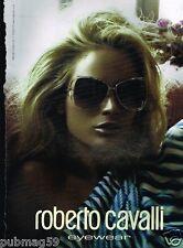 Publicité advertising 2010 Les Lunettes de soleil Roberto Cavalli