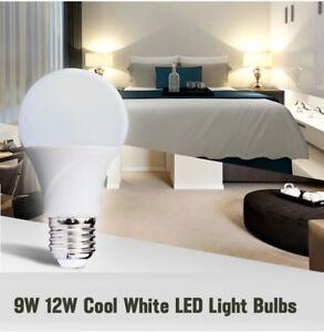 9-W-DEL-12-W-E27-B22-GLS-Ampoule-economie-d-039-energie-Lampe-Blanc-froid-GLOBE-Bon-etat-UK