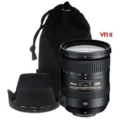 Nikon 18-200mm VR II DX Lens for D3100 D3200 D5100 D5200 D7000 D7100 DSLR Camera