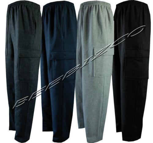 Mens Cargo Combat Jogging Bottoms Trousers Elasticated Tracksuit Joggers S XXL