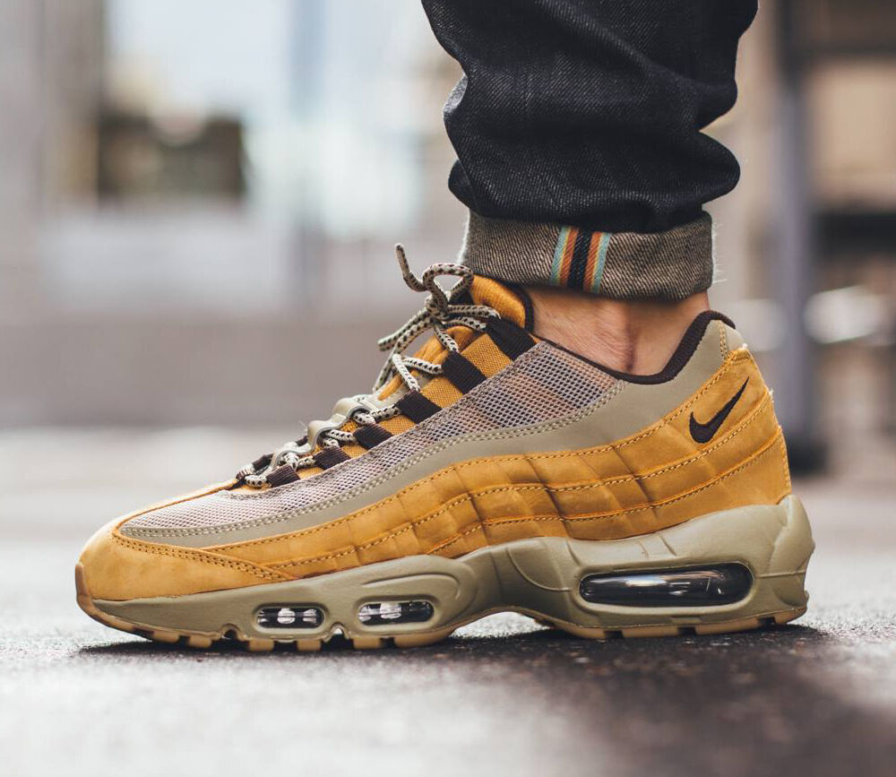 Nike Air Max 95 PRM Wheat Bronze/Baroque Brown-Bamboo 538416-700 Mens Sz 10