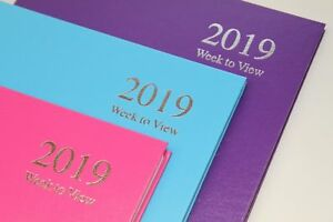 2019 Diary A4 / A5 Page A Day & Week To View Fashion Colour Hardback Cover