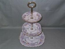 Vintage Colclough China 3-Tier Hostess Cake Plate Stand Deco Patt. No.1524