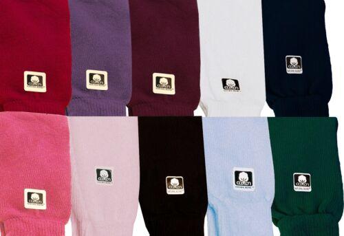 "Dance /& Fashion All Cotton Leg Warmers 19/"" 8 Colors NEW"