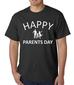 Men-039-s-Happy-Parents-Day-Shirt-Gift-Present-For-Mom-Dad-I-Love-My-Parents-T-Shirt